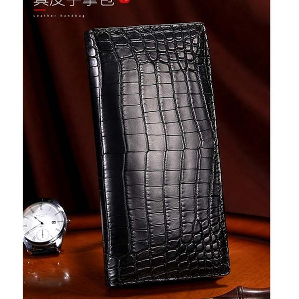 Men's African Nile Crocodile Leather Wallet - Made From Crocodile Belly
