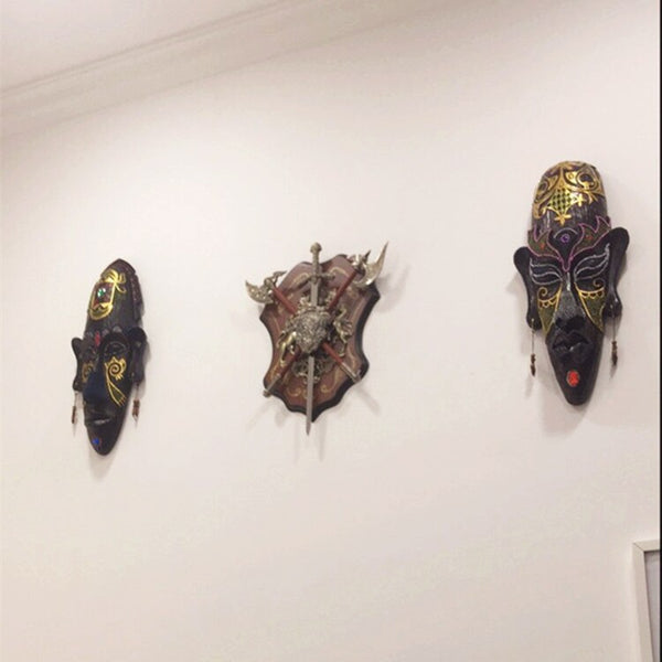 Hand Painted African Masks - Wall Hanging Crafts For Home Or Office - Moses Chikoti