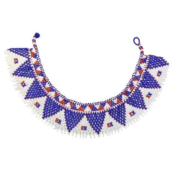 African Multilayers Choker Necklaces - Handmade Ethnic Necklacendian
