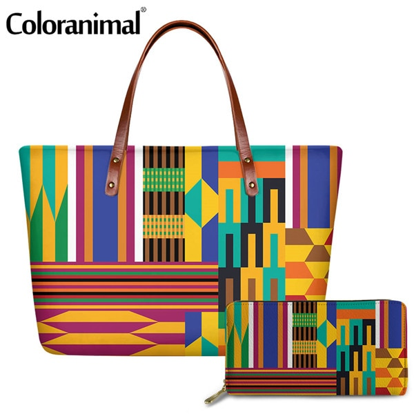 Brand Design African Tribal Mosaic Pattern Ladies Handbag & Purse