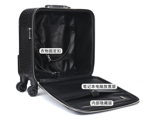 Men's South African Ostrich Leather Suitcase
