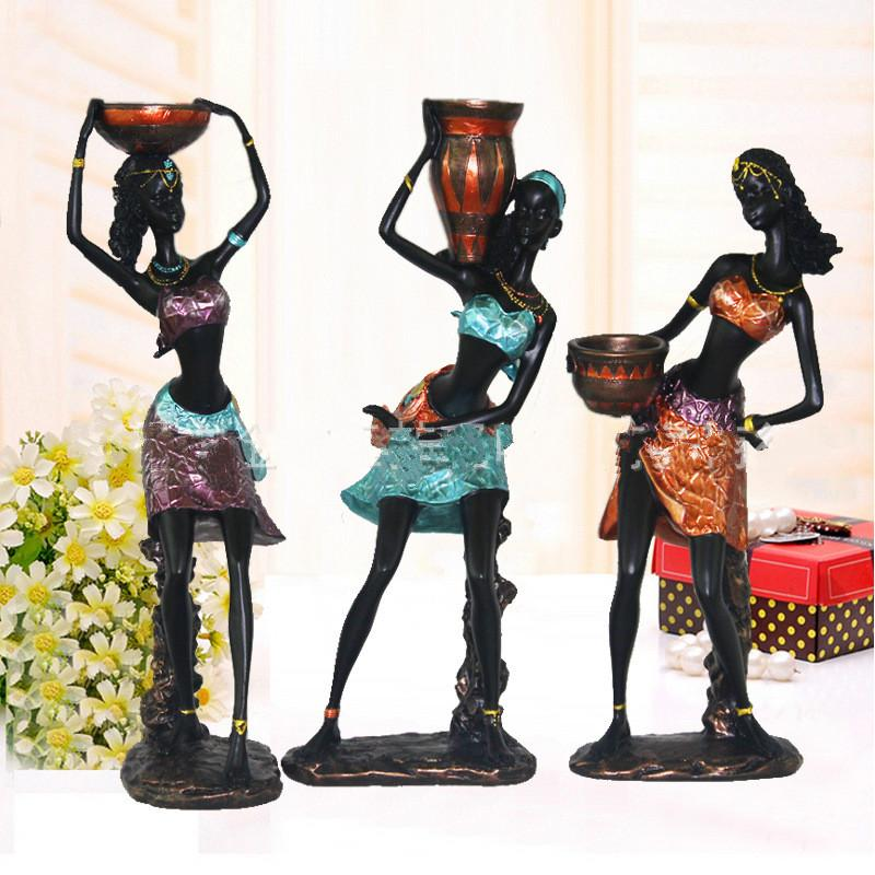 African girl  arts and crafts resin ornaments