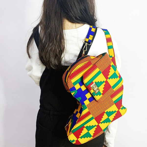 African Map Fashion Bag - High Quality Kente Print Bag For Women - Moses Chikoti