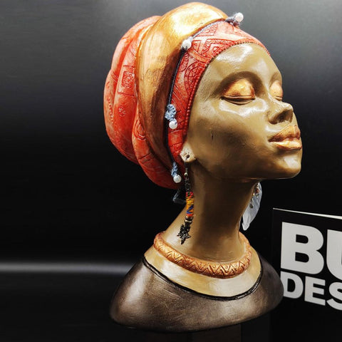 African Woman Statue