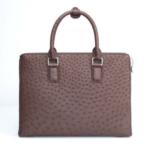 South African ostrich skin bag for women - stylish and luxurious handbag