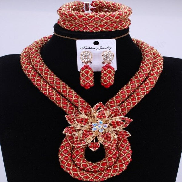 Fantastic African Beads Handmade Jewelry Set