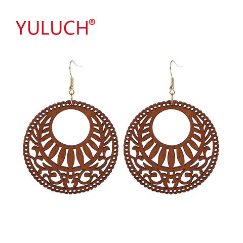 YULUCH Engraving design natural handmade round hollow African  jewelry for women - Moses Chikoti