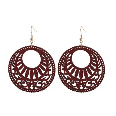 YULUCH Engraving design natural handmade round hollow African  jewelry for women