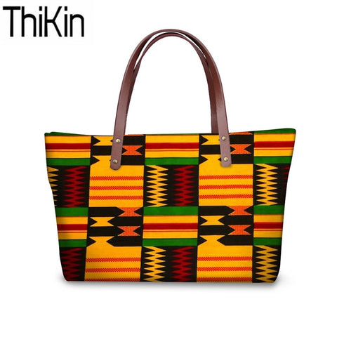 Women's Top-Handle Bag African Traditional Printing Handbags - Moses Chikoti