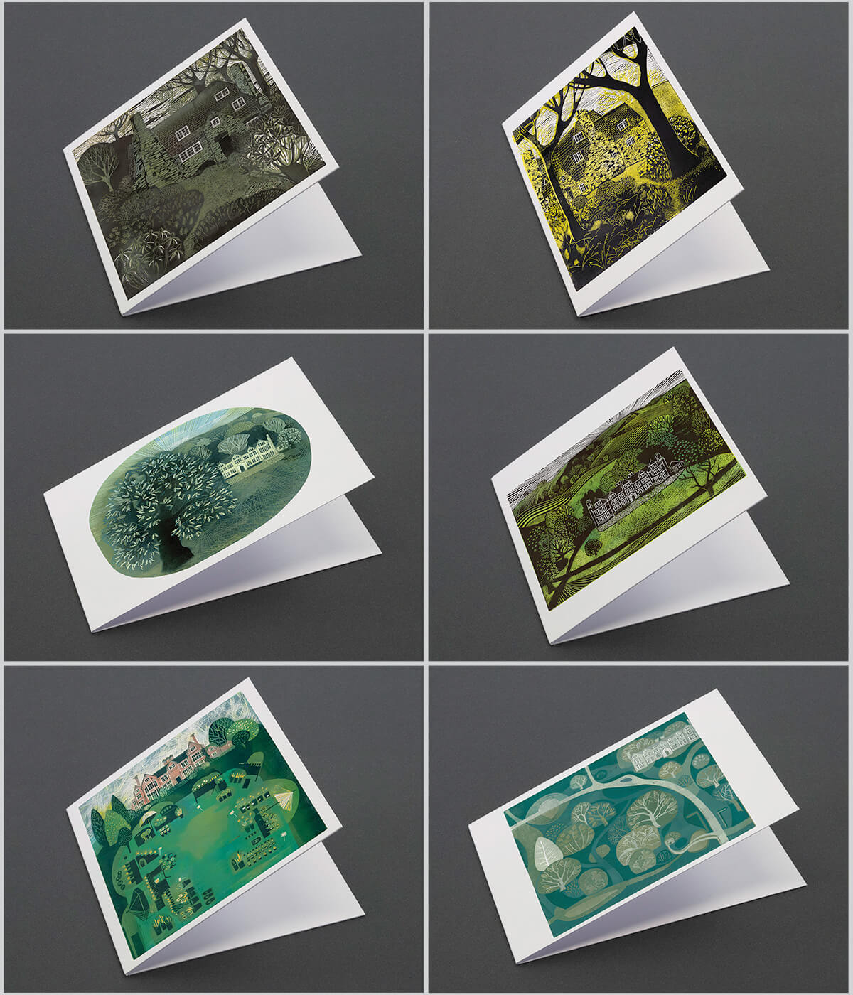 Leicestershire, a pack of linocut greeting cards by Sarah Kirby