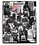 Print Workshop, St Stephen's Road, a linocut print by Sarah Kirby