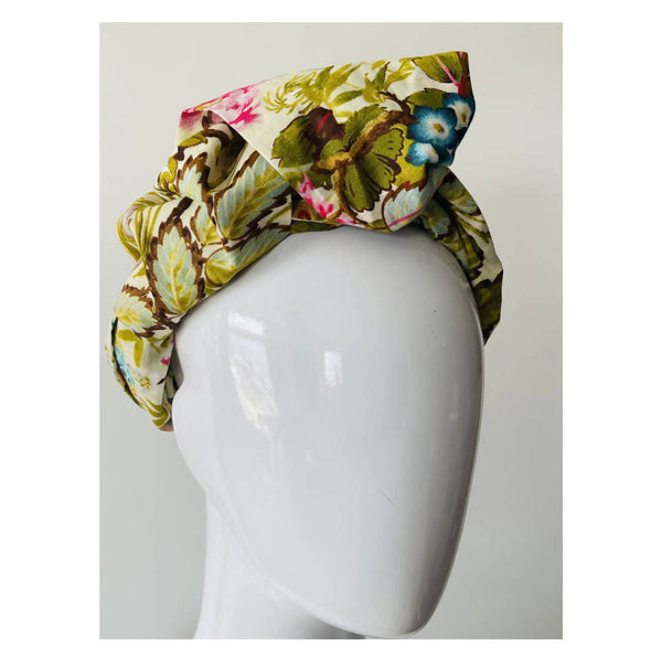 Gypsy head scarf in summer floral