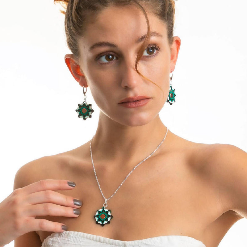 Moresque Drop Earrings by Ark Jewellery