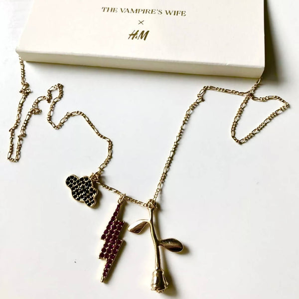 Vampire's Wife x H&M Limited Edition Long Necklace with Charms