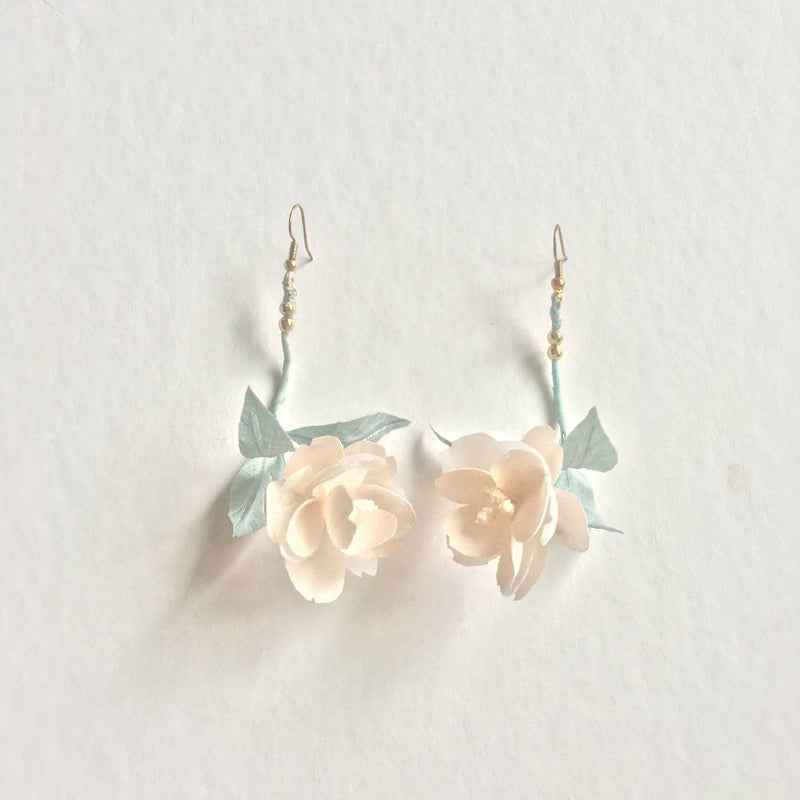 Pure Silk Flower Earrings