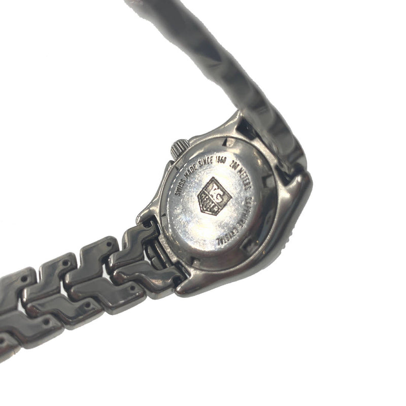 Vintage TAG Heuer wrist watch with Sapphire Cystal glass face metal strap and white dial, Swiss Made Professional 200 meters
