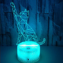 Load image into Gallery viewer, 3D Beckoning Cat Visual Illusion Lamp Cute Night Light