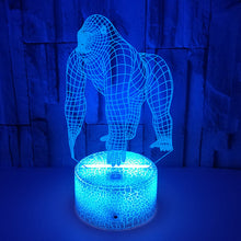 Load image into Gallery viewer, 3D Chimpanzee Illusion Night Light Touch 3D Led Lamp