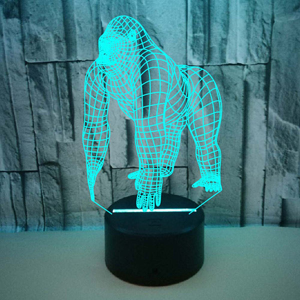 3D Chimpanzee Illusion Night Light Touch 3D Led Lamp