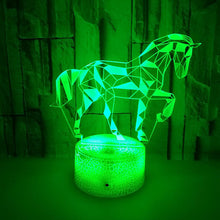 Load image into Gallery viewer, 3D Horse Illusion Lamp 3D Led Table Desk Night Light