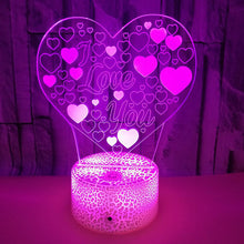 Load image into Gallery viewer, 3D Love Illusion Lamp Valentine's Day Gift