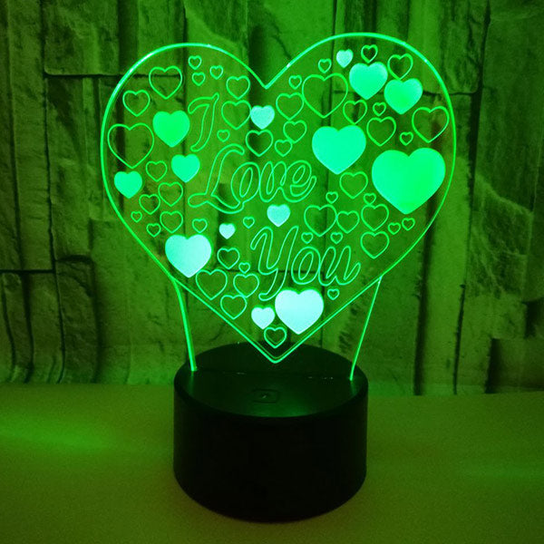 3D Love Illusion Lamp Valentine's Day Gift