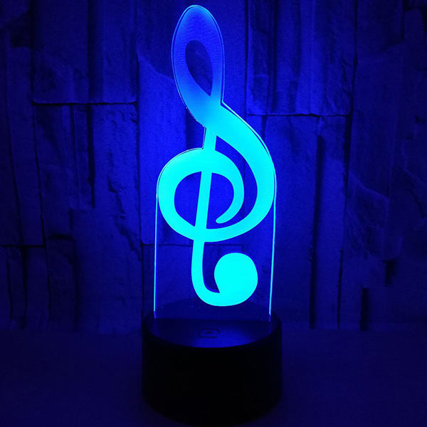 3D Note Led Illusion Lamp Desk Night Light