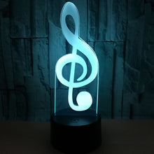 Load image into Gallery viewer, 3D Note Led Illusion Lamp Desk Night Light