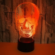 Load image into Gallery viewer, 3D Skull Illusion Lamp Night Light Halloween Gift