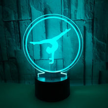Load image into Gallery viewer, 7-color Ballet 3D Illusion Lamp Bedroom Night Light