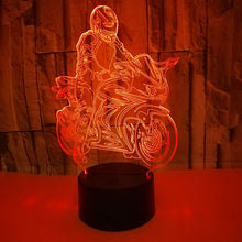 Load image into Gallery viewer, Creative Motorcycle 3D Illusion Lamp Bedroom Night Light