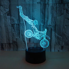 Load image into Gallery viewer, Motorcycle 3D Illusion Lamp Stunt Led Night Light