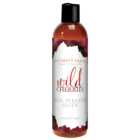Intimate Earth Wild Cherries Flavored Glide 120ml.