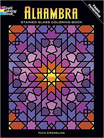 Alhambra Stained Glass Coloring Book by Nick Crossling