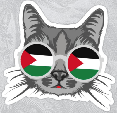 Palestine-Kitten Solidarity Sticker