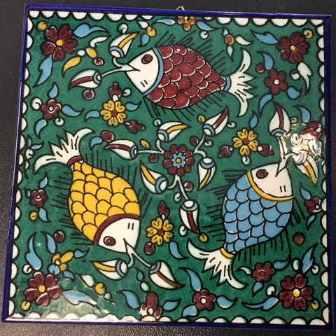 Green Fish Tile