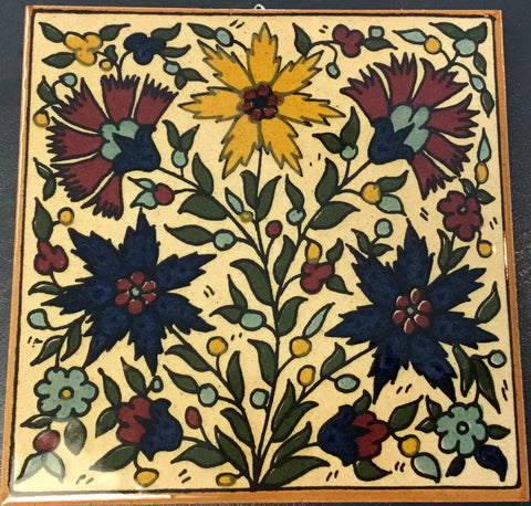 Five Flowers Tile