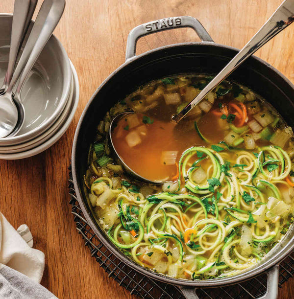 Simple Chicken Zoodle Soup