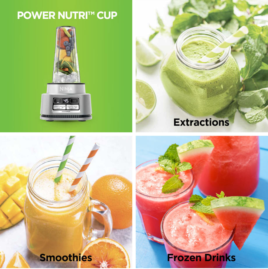 extractions, smoothies and frozen drinks