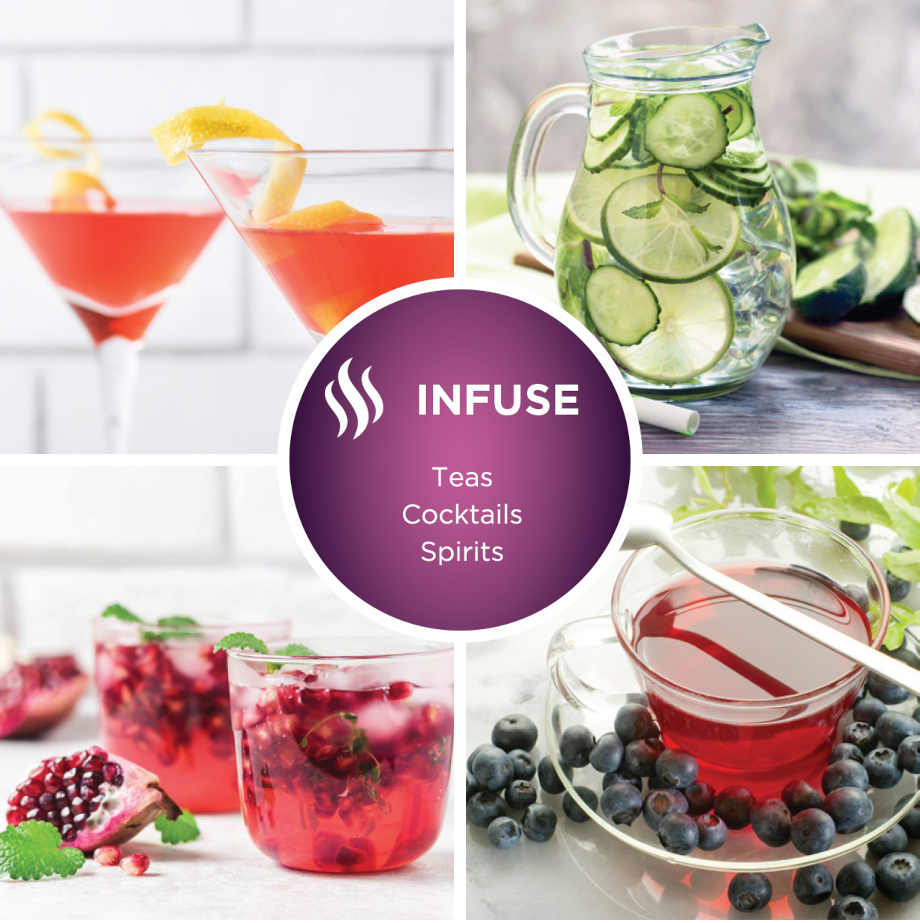infuse teas, cocktails, spirits