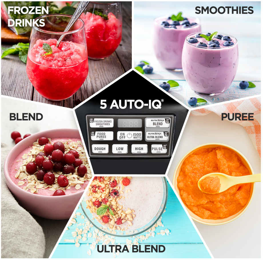 5 AUTO-iQ - frozen drinks, smoothies, blend, ultra blend and puree