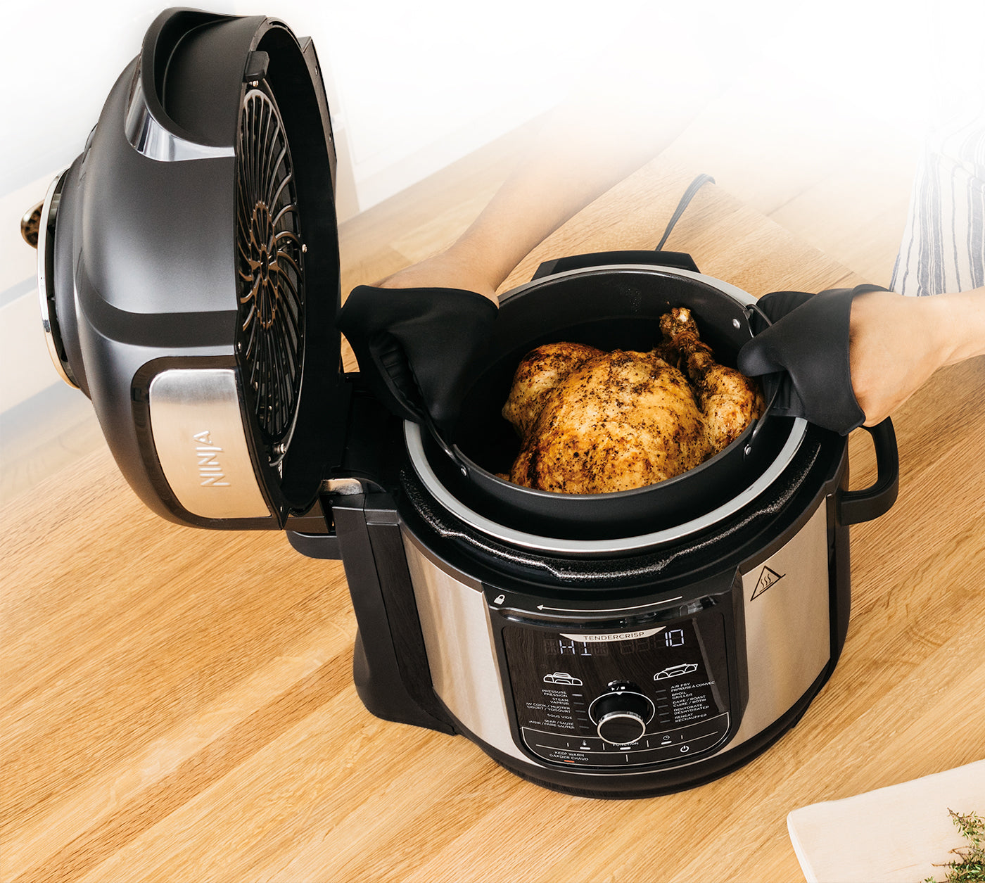 The pressure cooker that crisps