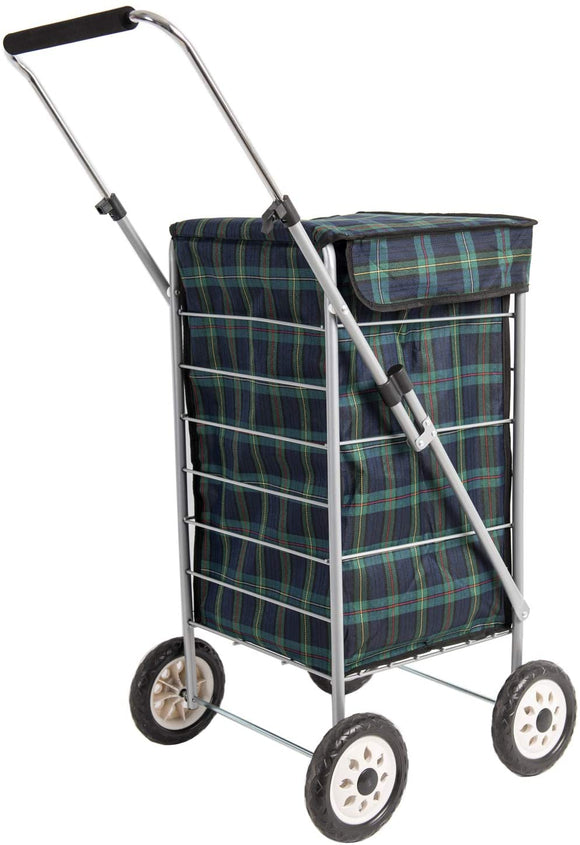 SABICHI ANGUS TARTAN SHOPPING TROLLEY