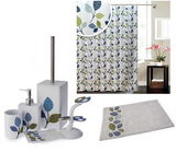 BLUE CANYON BOTANIC BLUE WHITE GREEN BATHROOM ACCESSORY RANGE