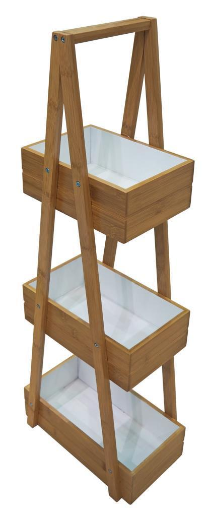 BLUE CANYON BAMBUS BAMBOO 3 TIER STORAGE CADDY