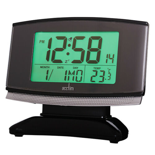 ACCTIM ACURA BLACK DIGIAL LCD ALARM CLOCK