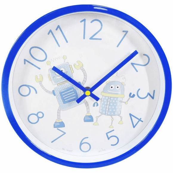 ACCTIM CHILDREN'S BLUE ROBOT CLOCK