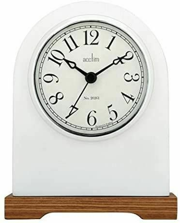 ACCTIM WHITE ADELAIDE MANTEL CLOCK