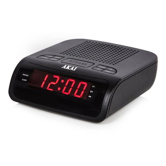AKAI BLACK LED DISPLAY RADIO CLOCK
