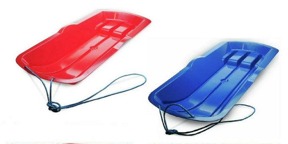 ALPHA KIDS LARGE PLASTIC SNOW SLEDGE SLEIGH TOBOGGAN